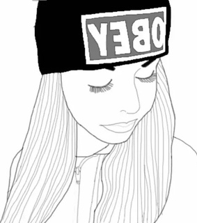 drawing, girl and hipster