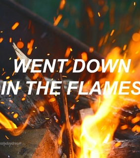 aesthetic, fire and flames