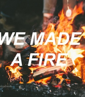 aesthetic, bonfire and fire