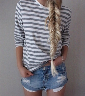 cute, fishtail and girly
