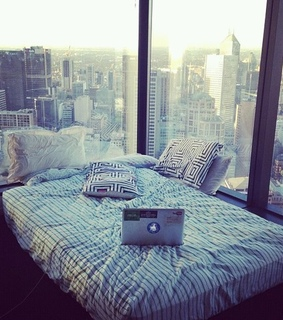 amazing, bed and big city