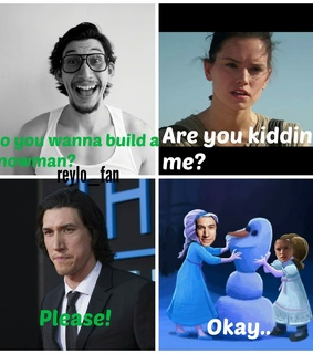 rey, star wars and adam driver