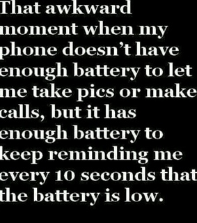 awkward, battery and funny