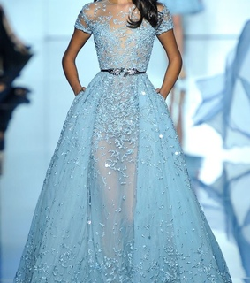 a-line, beautiful and blue