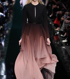 clothes, degrade and elie saab