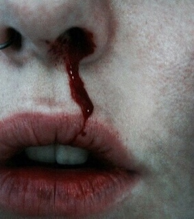bloond, lips and nostril