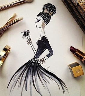 draw, drawing and fashion