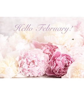 february, hello february and new month