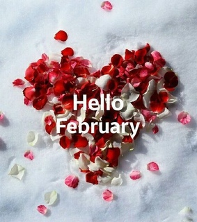 february, first day and heart shape