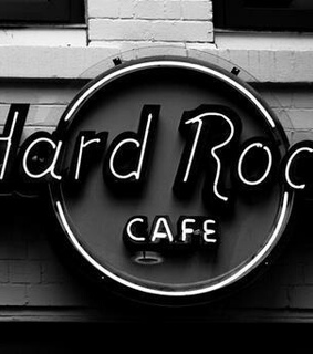 black and white, cafe and hard rock