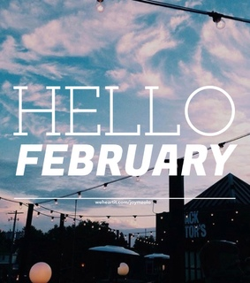 easel, font and hello february