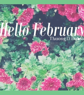 february, flowers and hello