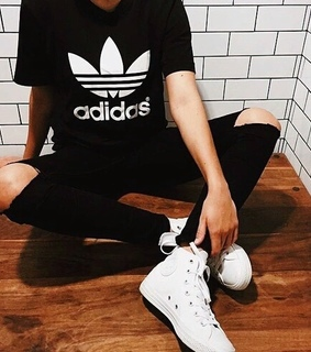 adidas, all star and black