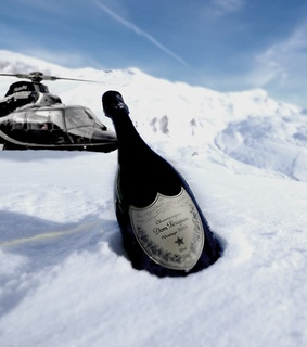champagne, classy and helicopter