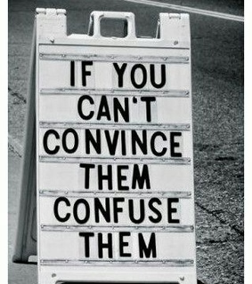 confuse, convince and funny