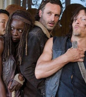 andrew lincoln, norman reedus and steven yeun