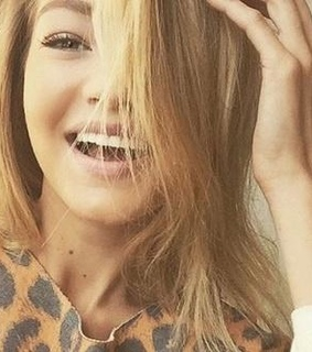 blonde, model and perfect smile
