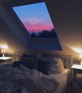 bed, bedroom and home