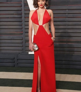 afterparty, miranda kerr and red dress