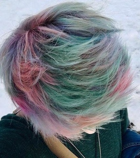 colorful hair, emo and emo boy