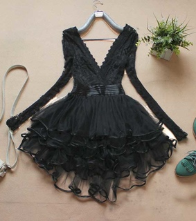 a-line, black and dinner