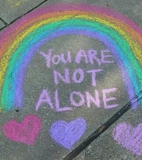 cute, rainbow and you are not alone