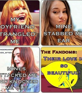 fandom, hunger games and mortal instruments