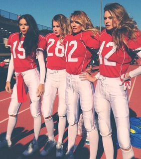 american football, cheerleaders and fashion