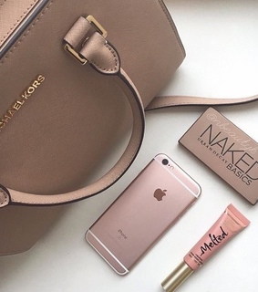 cosmetics, michael kors and rose gold