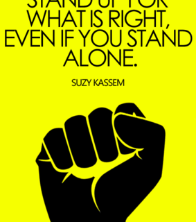 stand up, suzy kassem and stand up for what is right