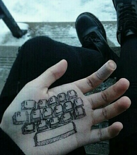 hand, grunge and soft pale