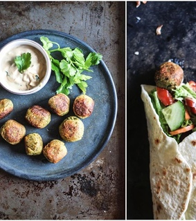 food, falafel and vegan