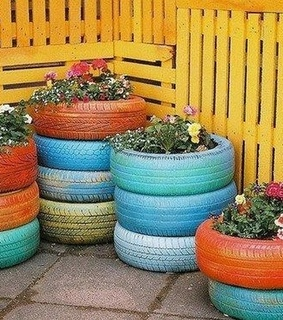 DIY Recycled Tire, Recycle Tire Ideas and Recycled Tire Planters