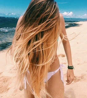 ete, ocean and cheveux