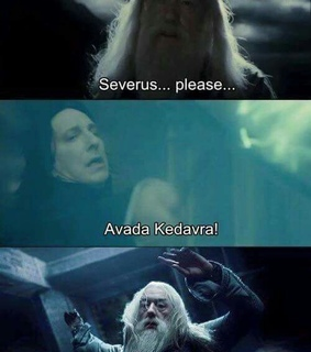 avada kedavra, slytherin and albus dumbledore