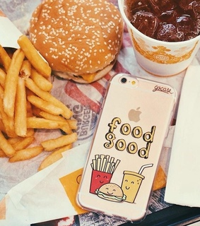 case, iphone and burger king
