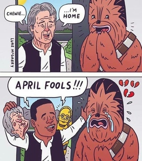 april fools, star wars and funny