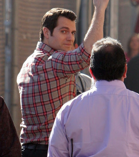 handsome, napoleon solo and henry cavill