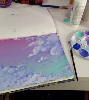 tumblr, art and clouds