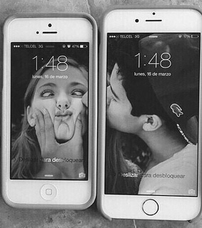 iphone, boyfriend and girlfriend and girl