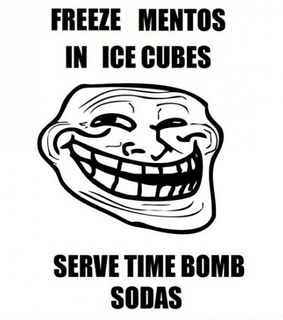 bomb, troll and cola