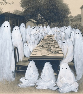 banquet, ghosts and white