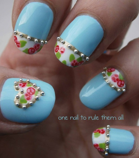 nail art, french manicure and french