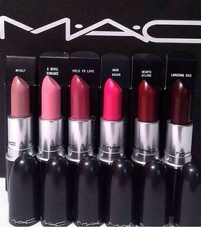 lipstick collection, mac and maroon