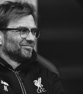 kloppo, liverpool and black and white