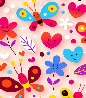 colores, flores and mariposas