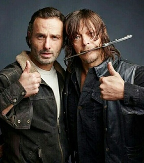 andrew lincoln, baes and daryl