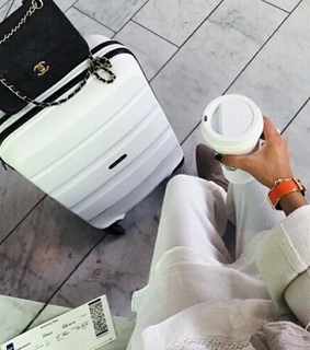 airport, baggage and chanel