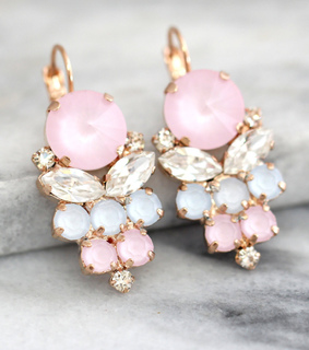 bling, bridal earrings and bridal jewelry