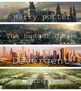 books, divergent and harry potter